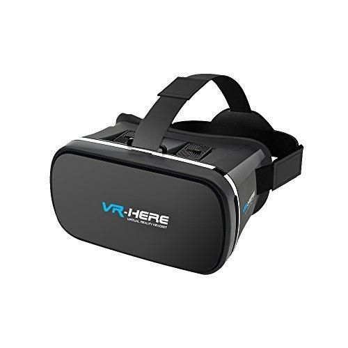 Coregale 3D 4ND VR Box Virtual Reality Headset Glasses Fits for 3.5 to 6.0 inch Screen with Anti Blue film for iPhone Samsung