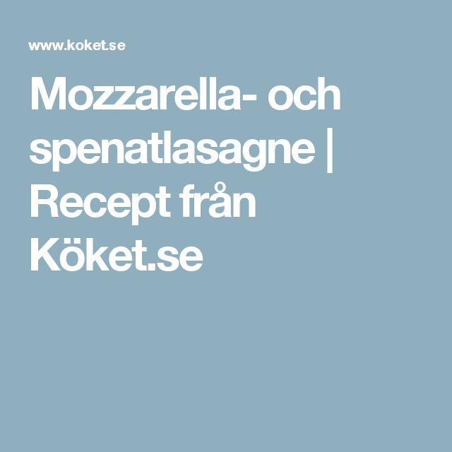 Mozzarella- och spenatlasagne | Recept från Köket.se