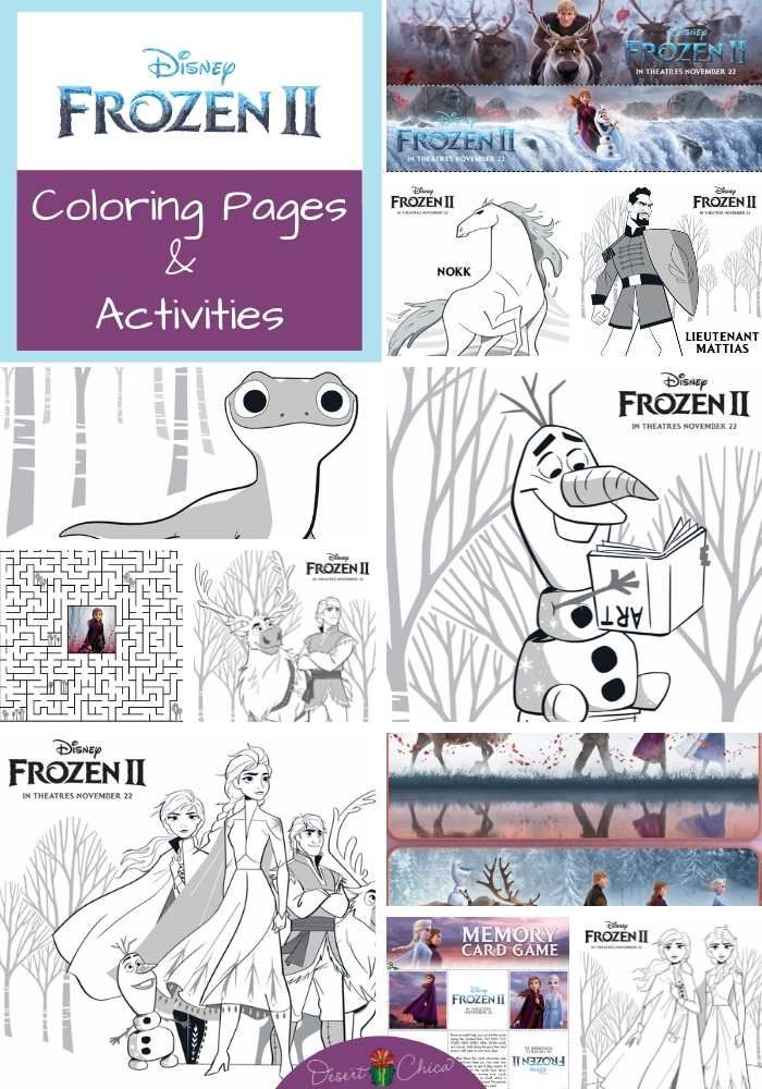 Frozen 2 Coloring Pages and Activities (With images