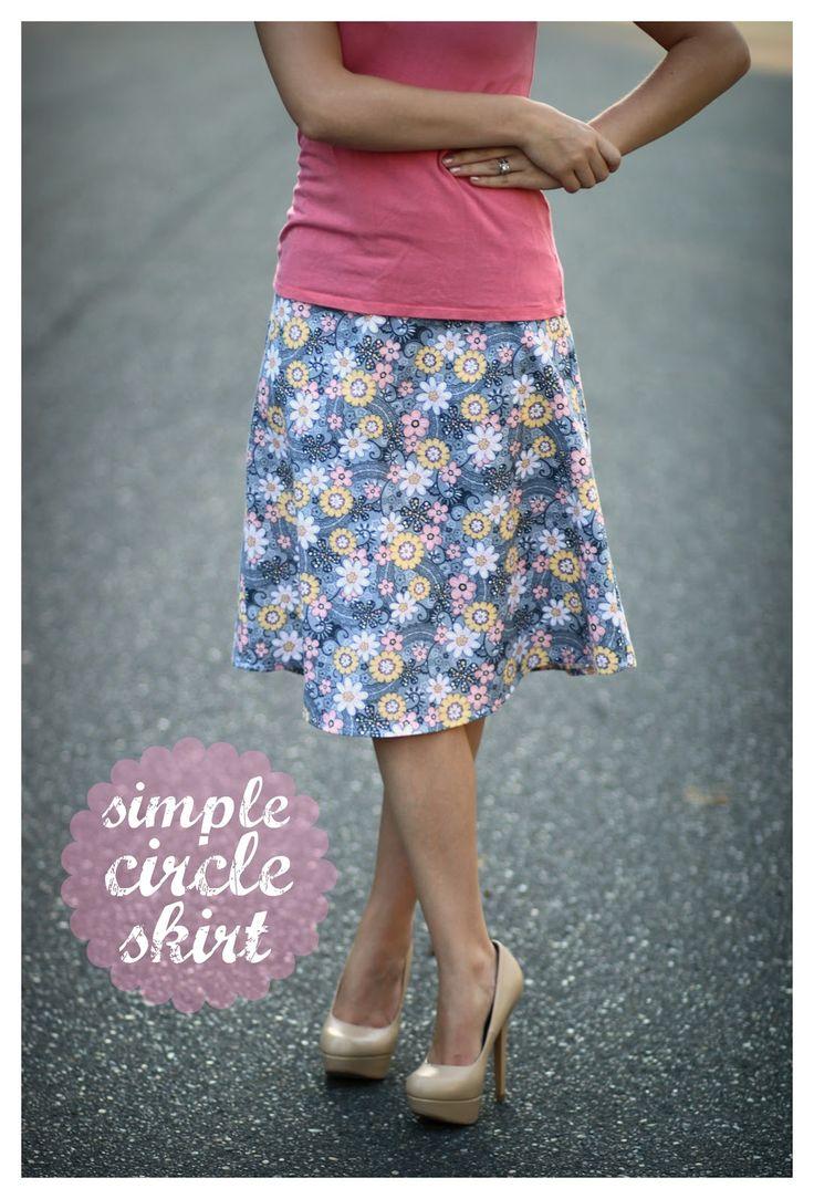 the 25+ best circle skirt tutorial ideas on pinterest   circle