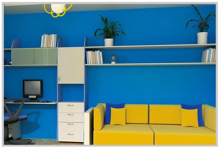 0.6m*10m Mediterranean style Self adhesive Sea blue  PVC Waterproof Wallpaper roll foil for furniture Bar window film cabinet