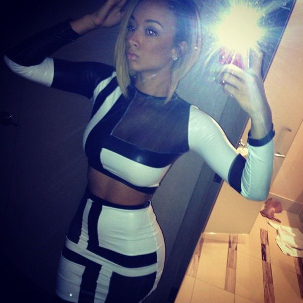 Black And White dress Bodycon 2pcs set, perfect for clubbing Material:Polyester,Spandex