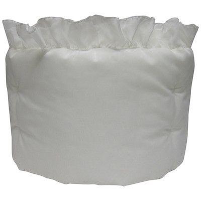 BabyDoll Bedding Ruffled Solid Crib Bumper Color: White