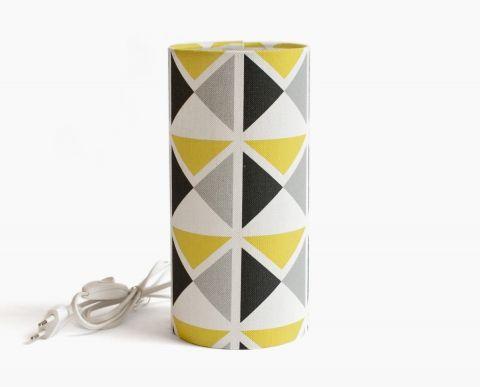 Lampe de table 1930 jaune gris noir jaune et gris for Lampe de table jaune