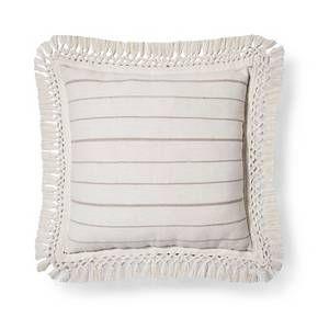 Cream Linen Stripe Oversized Throw Pillow - Threshold™ : Target