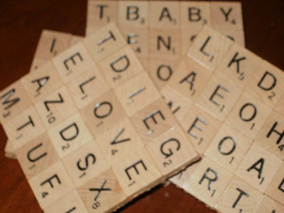 Scrabble Coasters  Set of 4...Made with 80 Scrabble by floridalisa, $23.50