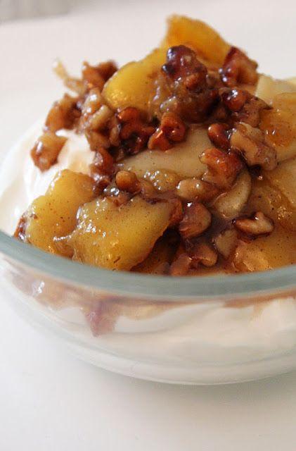 pardon me : Griechischer Joghurt mit karamellisierten Früchten...