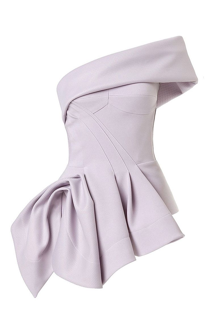 Cataclysm Bodice In Lilac by Maticevski for Preorder on Moda Operandi