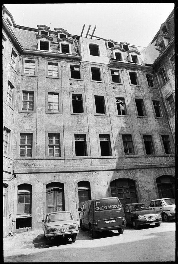 Leipzig, Barthels Hof am 15. August 1991.