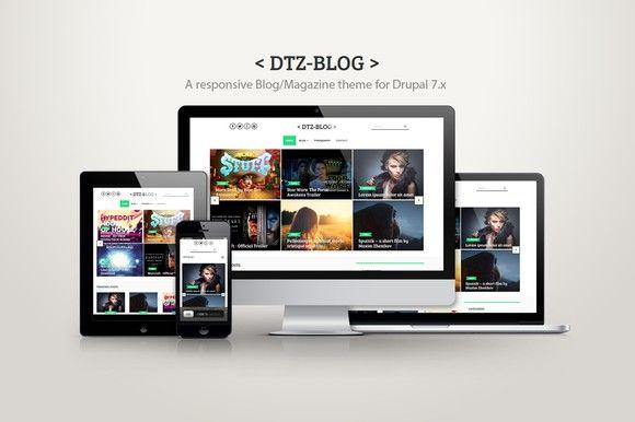 DTZ-Blog - A blog/magazine theme. Drupal Themes. $49.00