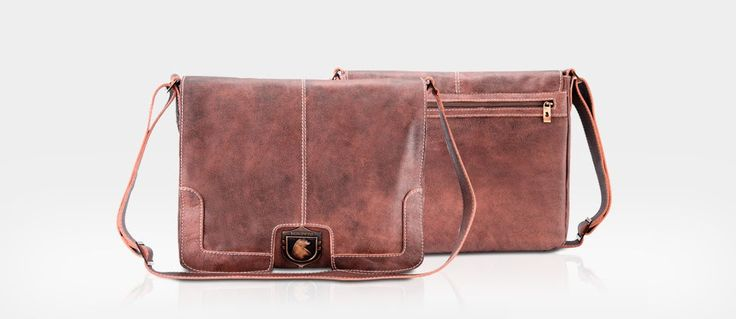 Bolsa masculina de couro para notebook tipo carteiro