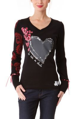 WOMAN KNITTED T-SHIRT  LONG SLEEVE