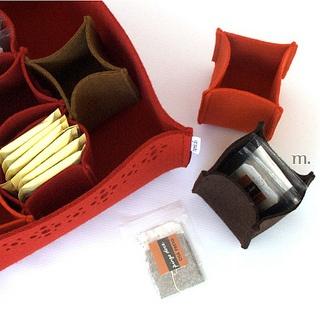 Tea box- felt basket