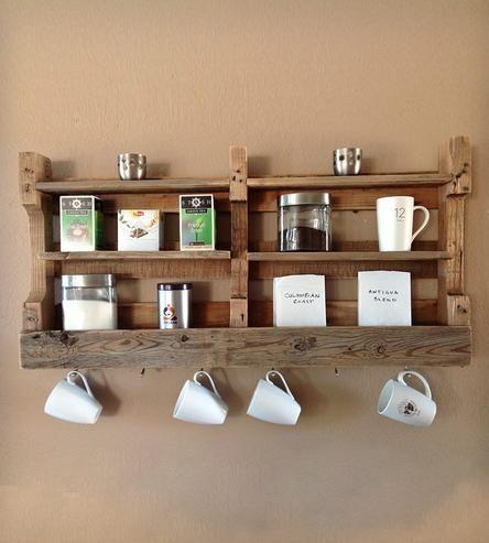 Reclaimed Wood Coffee + Tea Shelf | Home Decor | Del Hutson | Scoutmob Shoppe | Product Detail