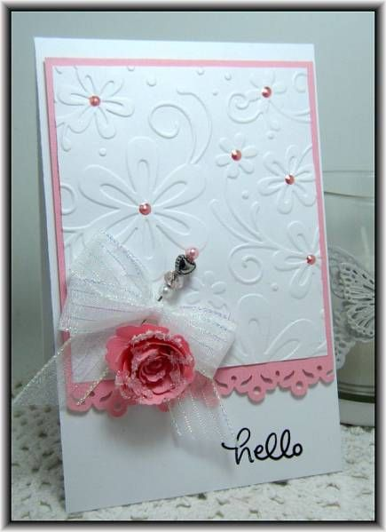 I want this embossing folder !!Hello! by Ashdale - Cards and Paper Crafts at Splitcoaststampers
