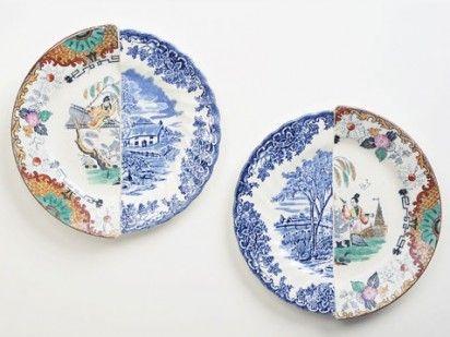 East meets West: Art Inspiration, Ceramic Design, Designer Dishes, Meshing Conceptual Ceramics, Combined Plates