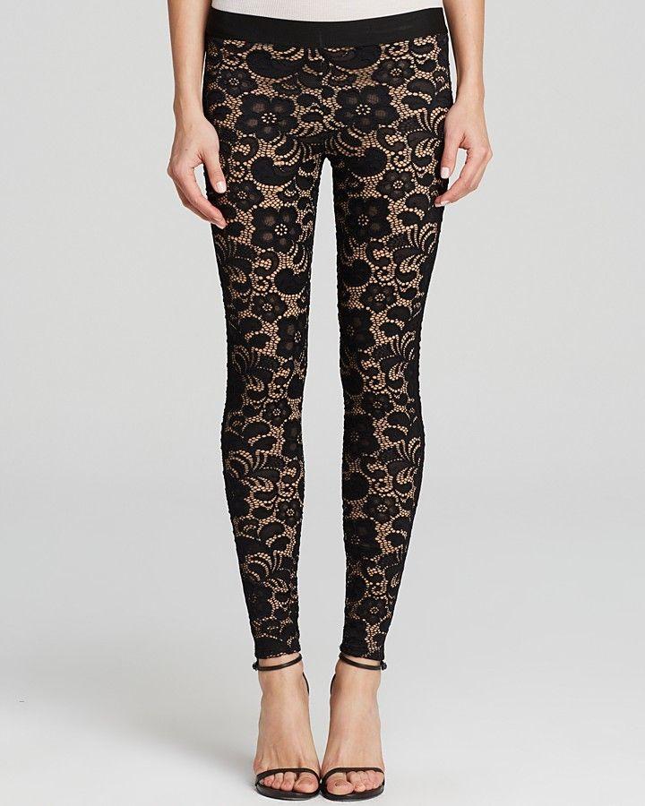 David Lerner Leggings - Lace Tuxedo on shopstyle.com