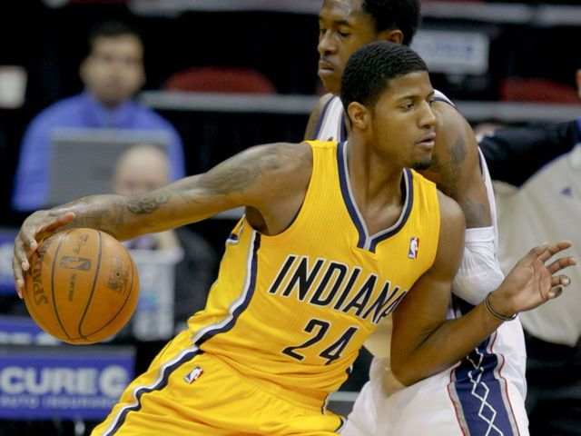 PHOTO: Paul George donates No. 24 gear to his old high school   theScore