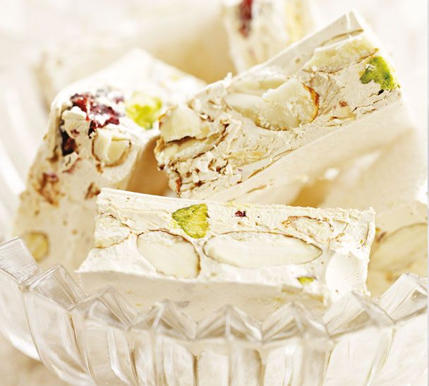 Annabel Langbein's easy Italian Nougat will end off the meal on a sweet note #designsponge and #dssummerparty