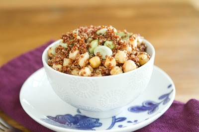 Fava Bean and Quinoa Salad | Recipe | Quinoa Salad, Quinoa and Beans