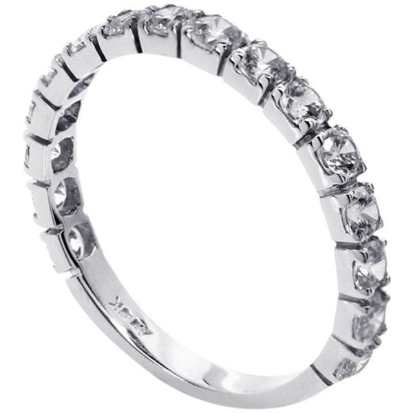 CARAT* London 9ct White Gold Eternity Ring (2.215 DKK) ❤ liked on Polyvore featuring jewelry, rings, white gold jewellery, round ring, white gold jewelry, eternity band ring and white gold eternity ring
