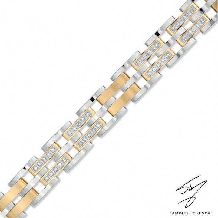 Zales Men S Shaquille O Neal 1 Ct T W Diamond Bracelet