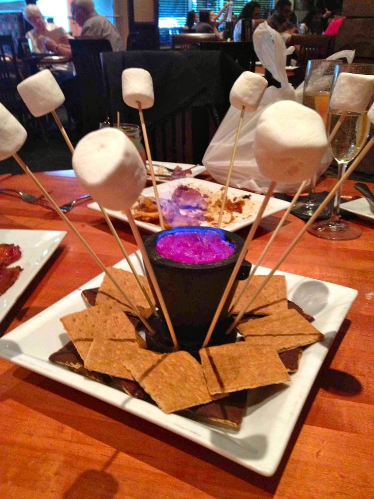 Campfire S'Mores - centerpieces or outside endeavour!