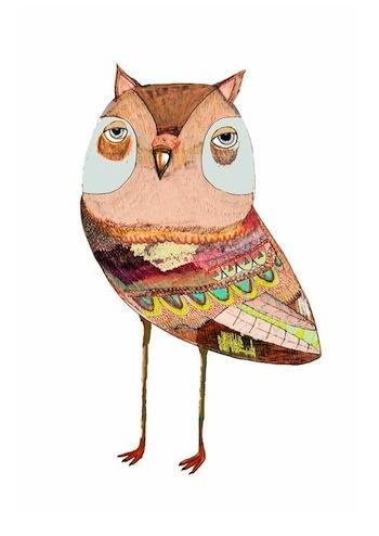 Owww! Illustrator Ashley Percival owl.