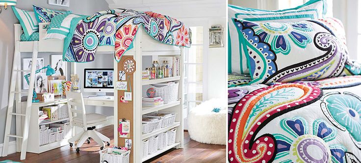 sleep n study kennedy paisley teen bedroom. Always loved the idea of this- cute, fun, and extreme space saver.