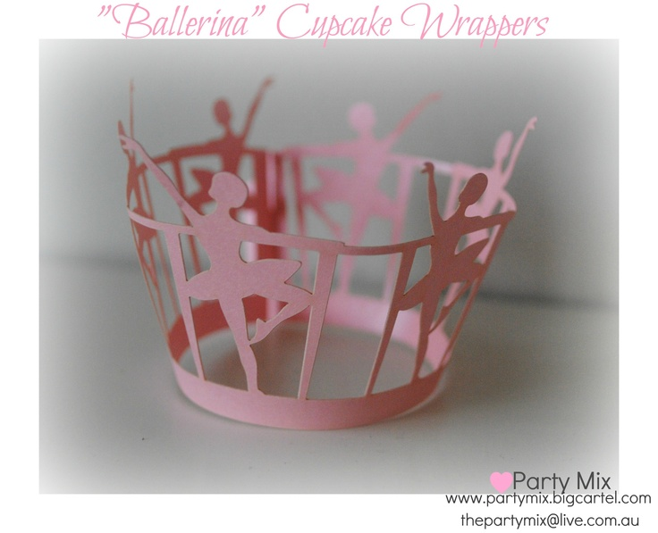 Ballerina Cupcake wrappers- great for any little ballerina/ dancing birthday!
