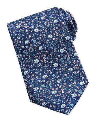 Ramage Fox Pattern Silk Tie, Navy/Red by Salvatore Ferragamo at Bergdorf Goodman. | See more about Fox Pattern, Silk Ties and Salvatore Ferragamo.