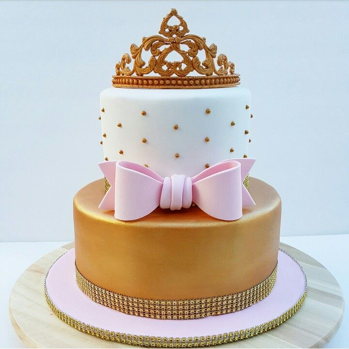 tier one fondant pink and gold birthday cakes ava
