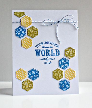 Happy HexagonsInk Cards, Cards Hexagons Mani Pti, Handmade Cards, Cards Papercraft, Cards Inspiration, Hexagons Covers, Happy Hexagons, Hexagons Cards, Hexagons Die Y