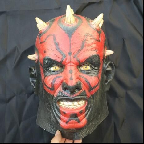 Free Shipping !!! Famous Movie Cosplay Latex Darth Maul Mask Star Wars Costume For Halloween Party Costume Horror Scary Mask