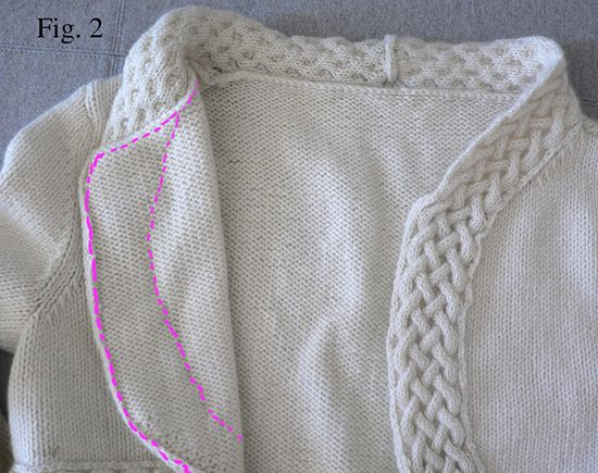 Aoife cabled shrug - Winter 2007 - Knitty
