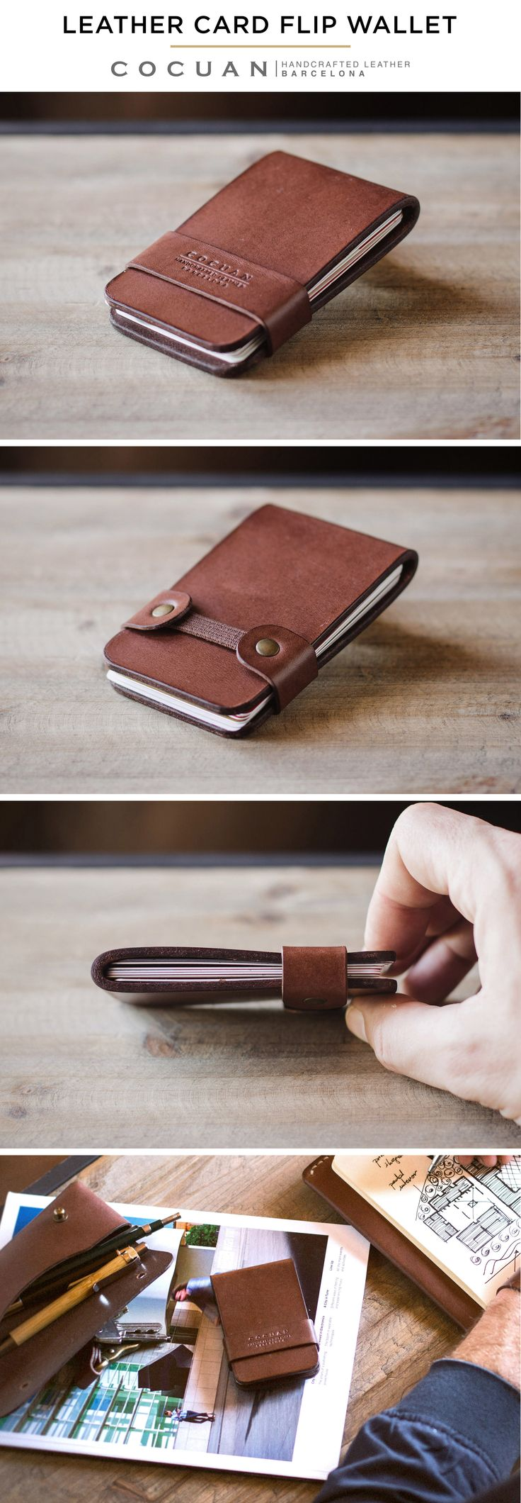 LEATHER CARD FLIP WALLET www.cocuan.com