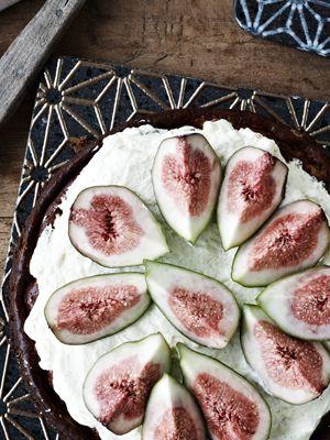 Cheesecake med figner - Dessert/kage - Opskrifter - Mad og Bolig