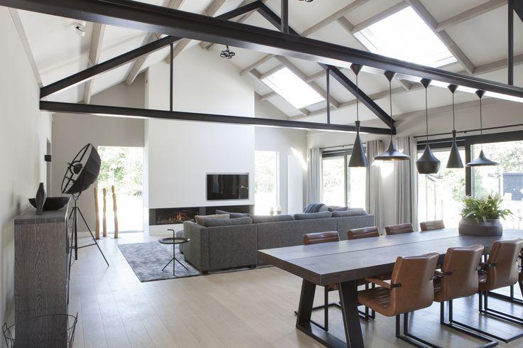 Villa Vleuten; Livingroom & fireplace