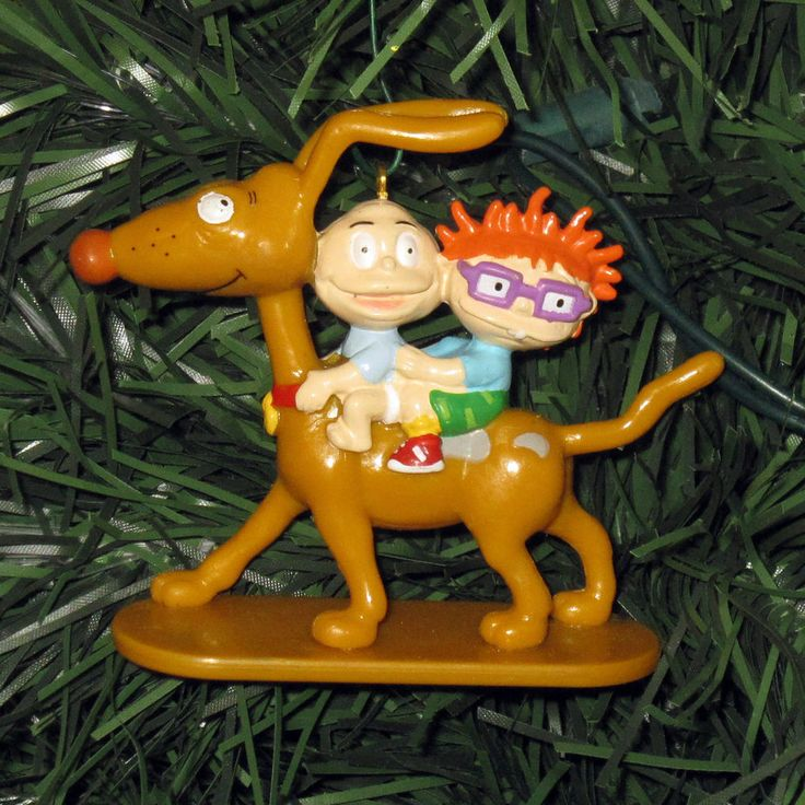 RUGRATS Dil & Chuckie Riding Spike Dog