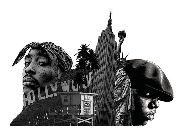 West Coast vs East Coast Hip Hop #tupac #biggiesmalls