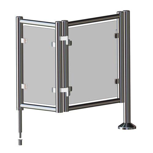 Калитка электромеханическая Elecrtomechanical Folding Gate #pedestrian #gate #готшлих #gotschlich #ограждение