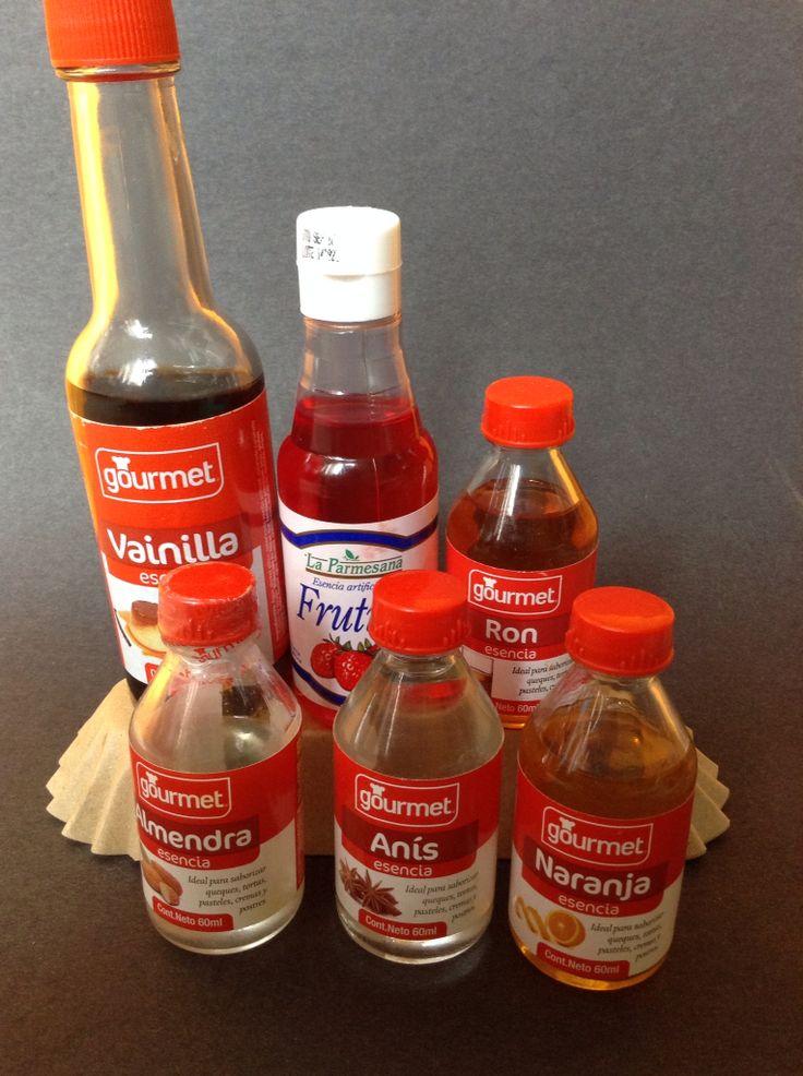 Esencias de Vainilla, Frutilla, Ron, Almendra, Anís y Naranja.