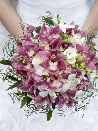 Bouquet mariée orchidée