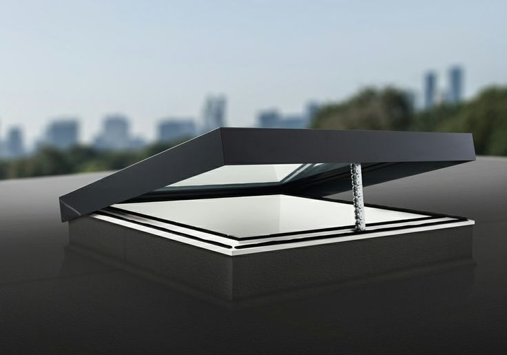 Opening rooflight on flat roof. By #eosrooflights