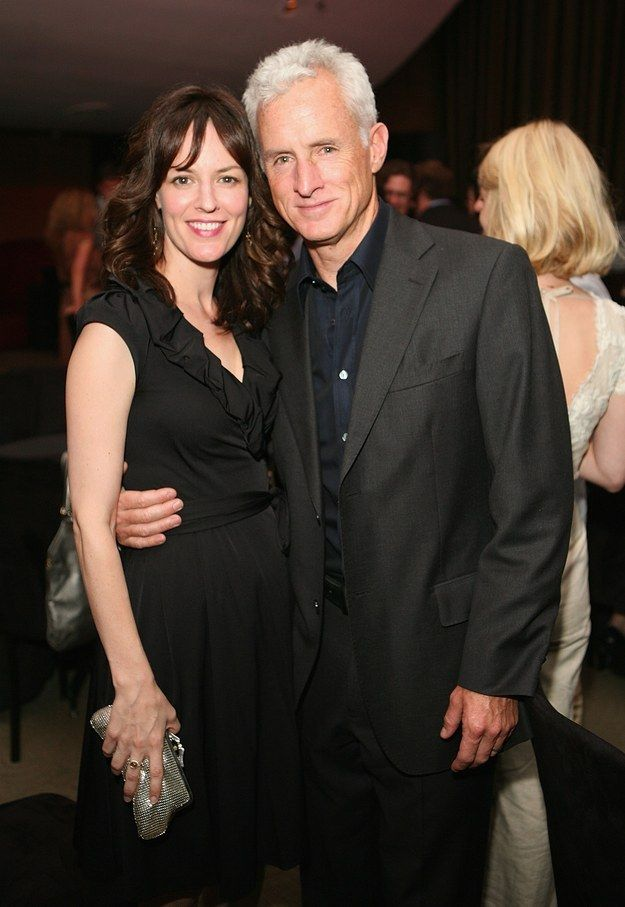 """Rosemarie Dewitt (aka Midge Daniels, another one of Don Draper's women) posing with the silver fox of Madison Avenue himself, John Slattery. 