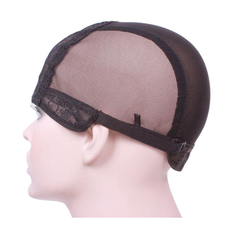 Topi Wig untuk membuat wig dengan tali adjustable di bagian belakang tenun cap ukuran S/M/L glueless topi wig Rambut berkualitas baik Bersih