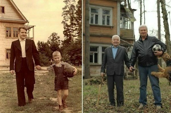 fantastic picture. father + son, then & now.