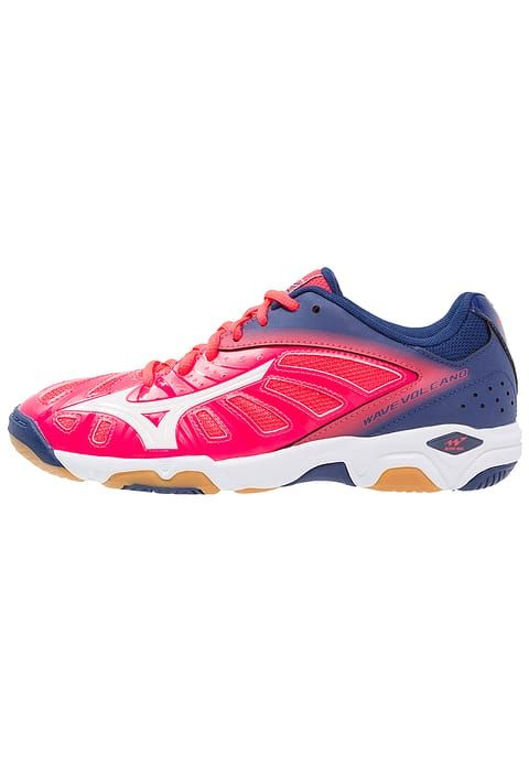 Mizuno WAVE VOLCANO - Scarpe da pallavolo - diva pink/white/blue depths - Zalando.it