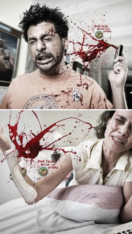 """""""Don't Text While He Drives"""" campaign is via India for the Bangalore Traffic Police by the Mumbai ad agency the Mudra Group <3"""