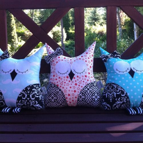 Here there are very modest owls. Don't  let them stay alone!  pillow: #pillow, #handmade #huggable, #cuddletoy #cuddle